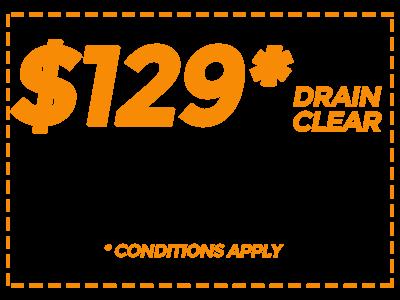 $129 Drain Clean