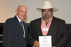 Dennis Mutton with individual award winner, Aaron Stuart