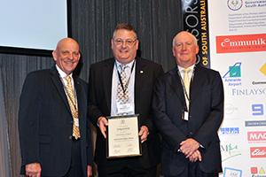 Dennis Mutton, Craig Schmidt and Colin Dunsford AM