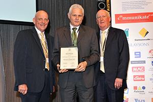 Dennis Mutton, Mark Wieszyk and Colin Dunsford AM