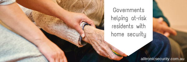 Governments helping at-risk residents with home security