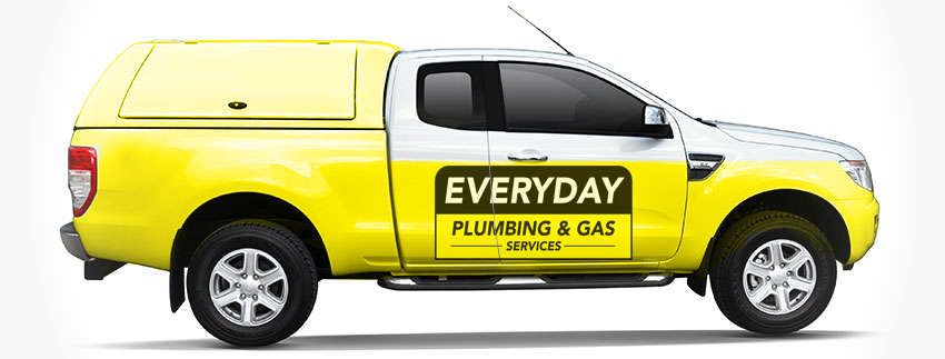 Fully equipped Everyday Plumbers truck.