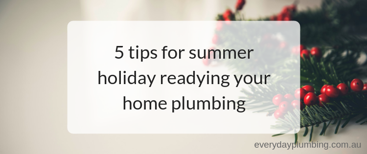 5 tips for summer holiday readying your home plumbing