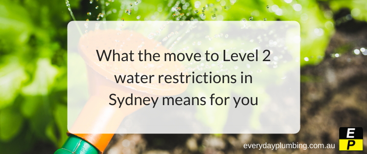 What the move to Level 2 water restrictions in Sydney means for you