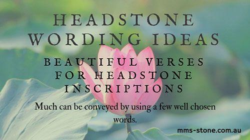 Headstone Wording Ideas