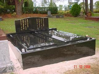 Double gravestone