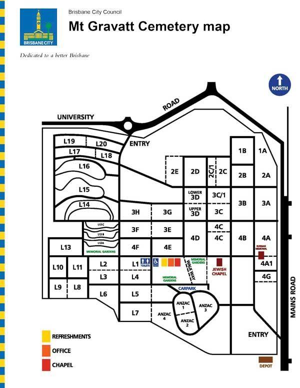 Mt Gravatt Cemetery and Crematorium Map