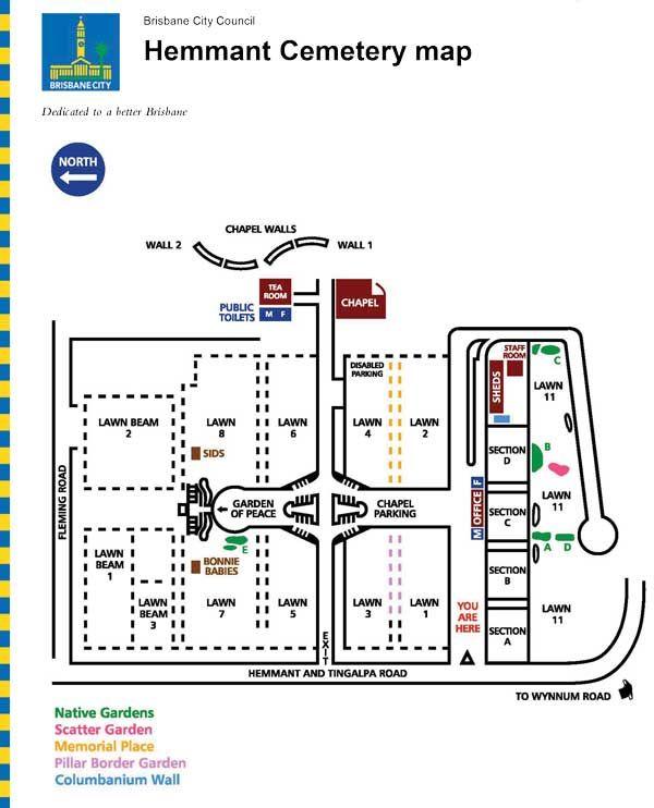 Hemmant Cemetery Map - BBC