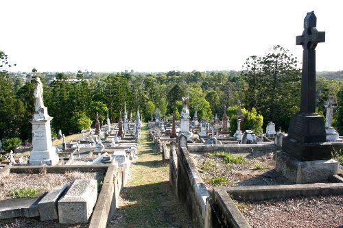 Graves at Toowong Cemetery