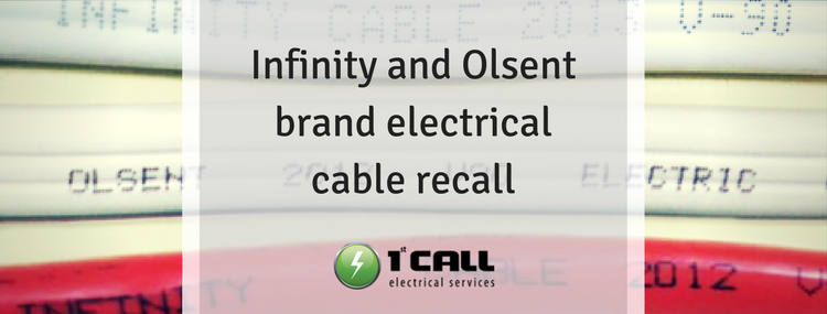 Infinity and Olsent brand electrical cable recall