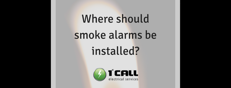 Where should smoke alarms be installed?
