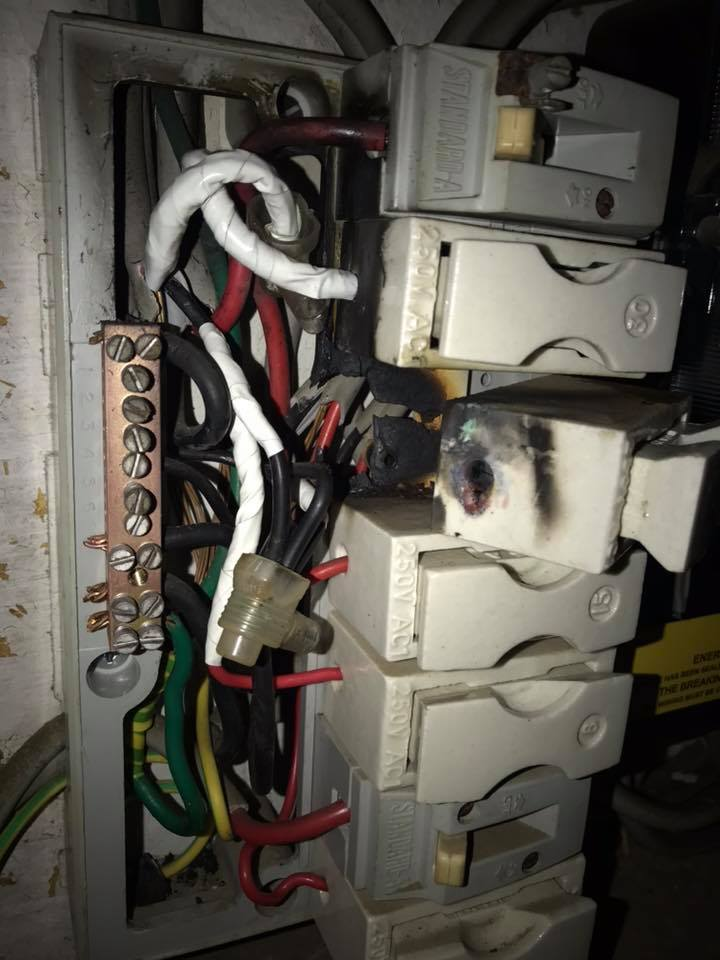 Old faulty electrical systems