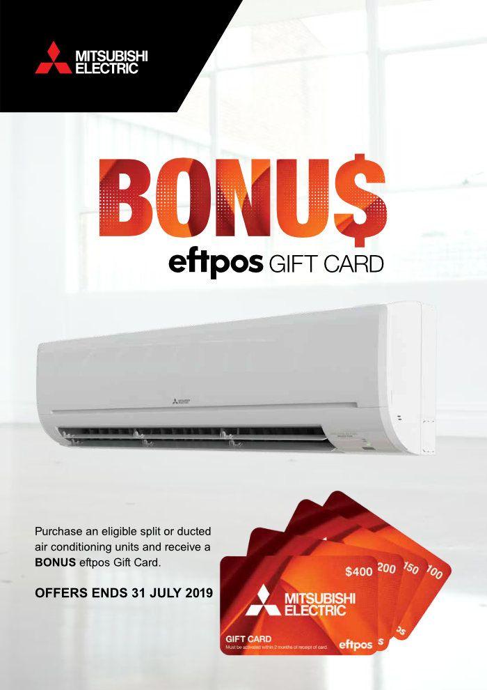 Mitsubishi Electric Bonus EFTPOS Cash Card Deal