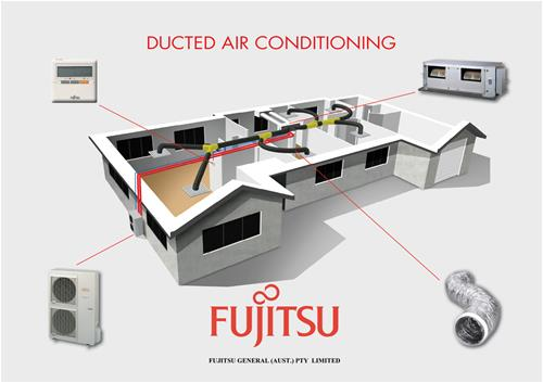 Fujitsu Ducted Air Conditioning In House
