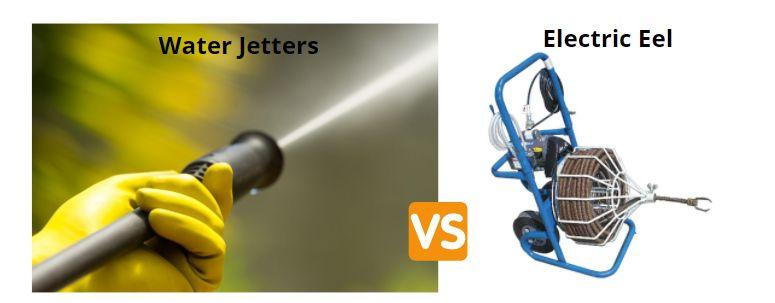 Water jetter vs plumbers eel