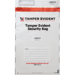A3 Tamper Evident Security Bag - Clear
