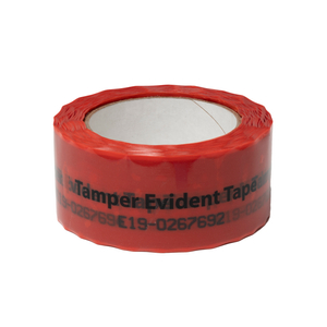 Red Tamper Evident Continuous Tape