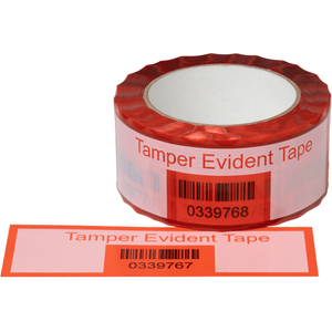 Tamper Evident Perforated White Security Tape
