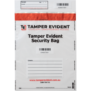 Clear A4 Security Bags from Tamper Evident