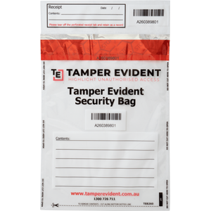 A5 Tamper Evident Security Bag - Clear