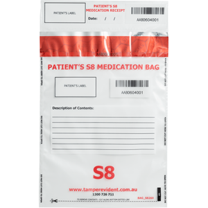 Patient's Own Medication Bag - S8 classification
