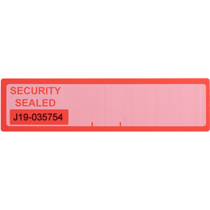 Numbered Red Tamper Evident Security Label