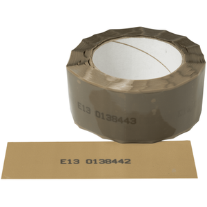 Brown Tamper Evident Security Tape