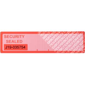 Aircraft Door Security Label