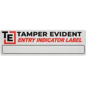 Retail Storefront Security Door Label