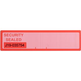 Security Lockdown Label