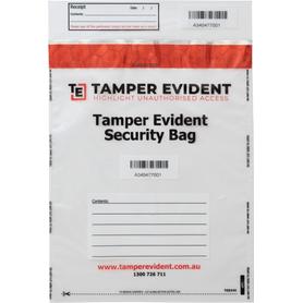 Tamper Evident Security Bag