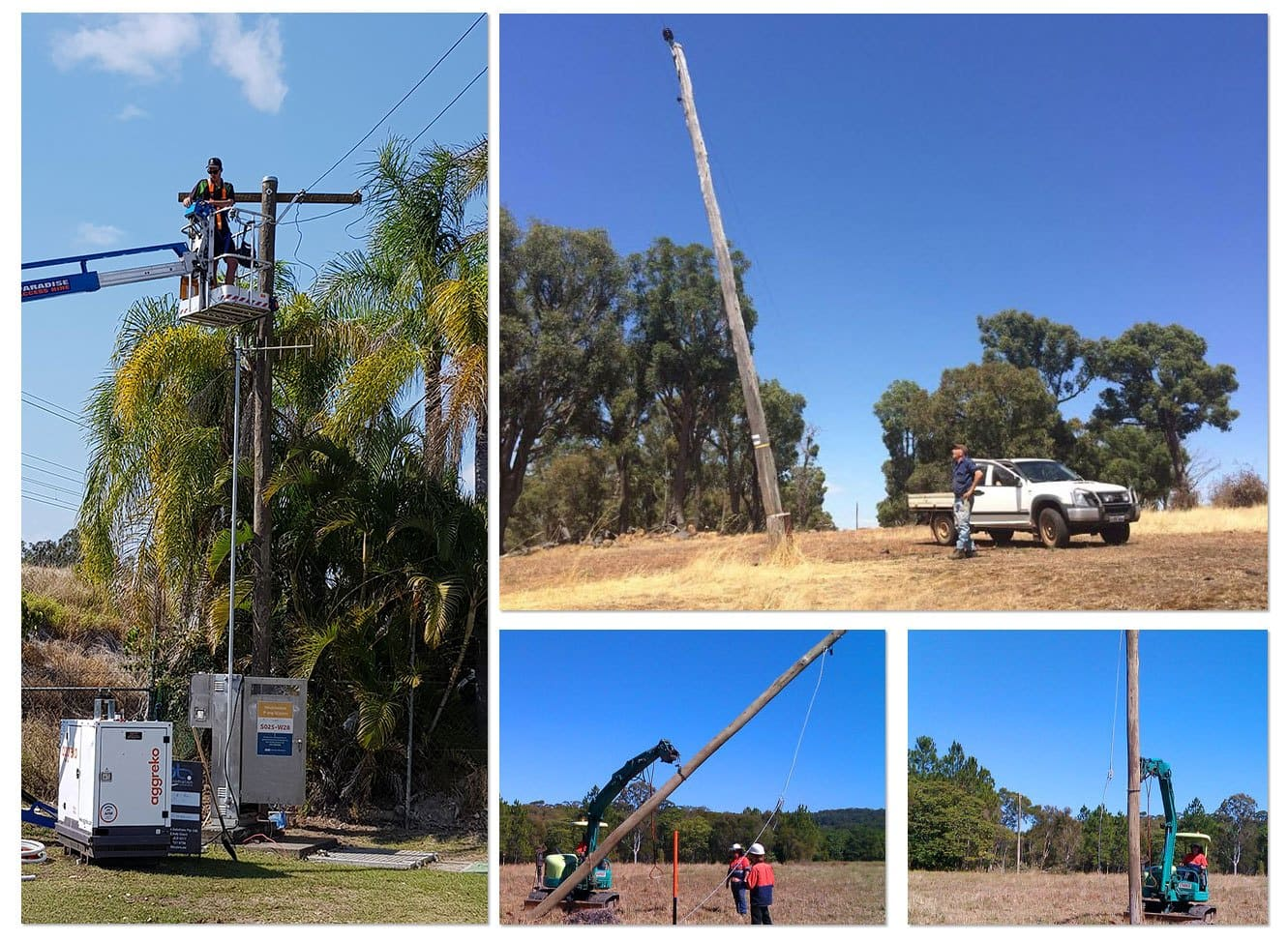 Power Pole Installation Project