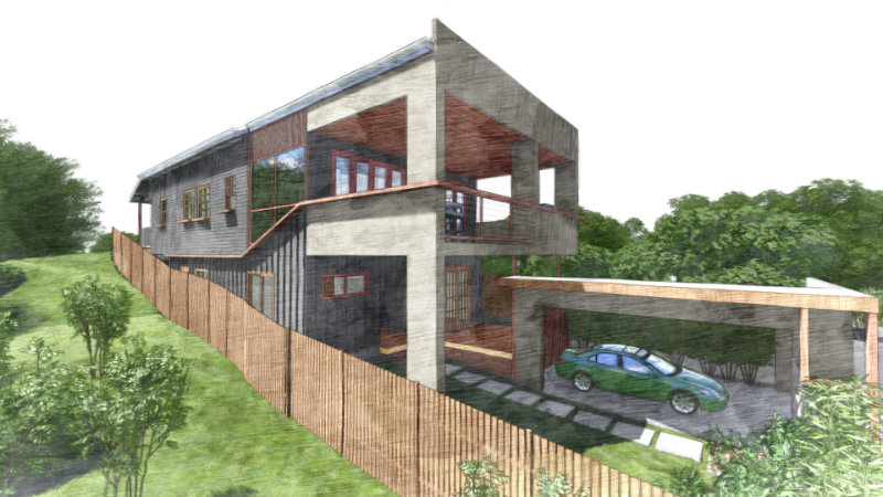 New House Sketch - 2 Storey House