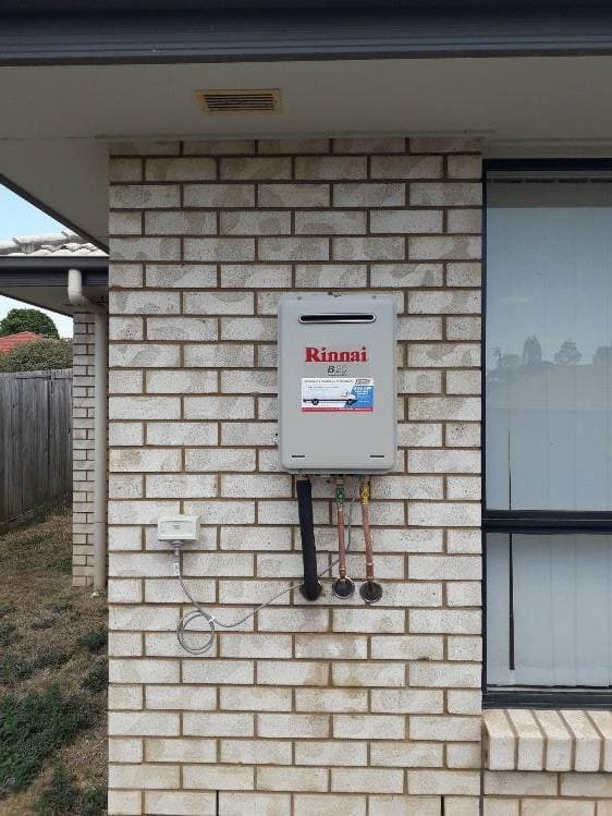 Rinnai Gas Hot Water System fitted to outside of house