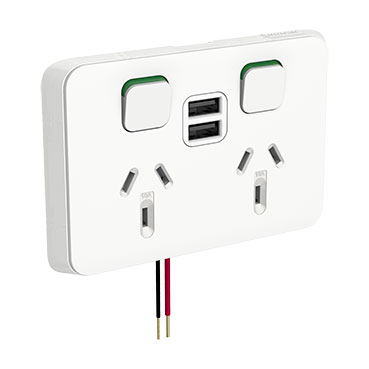 Clipsal 2 USB charger 2 GPO