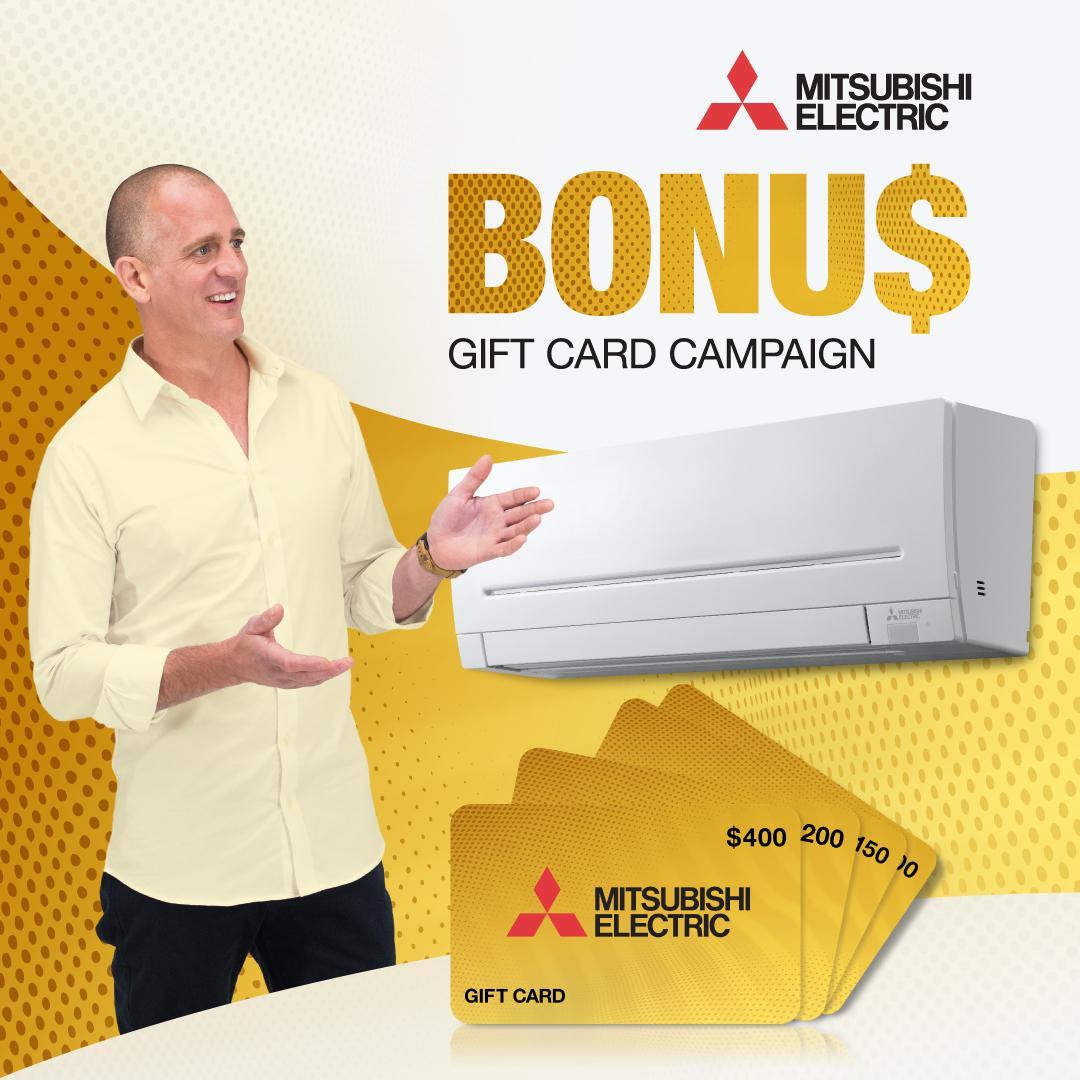 Mitsubishi Electric Bonus Gift Card offer