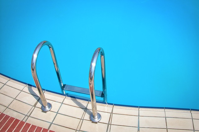 Pool with ladder