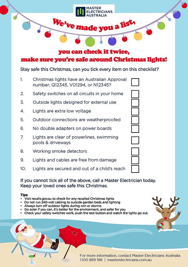 Christmas Safety Checklist