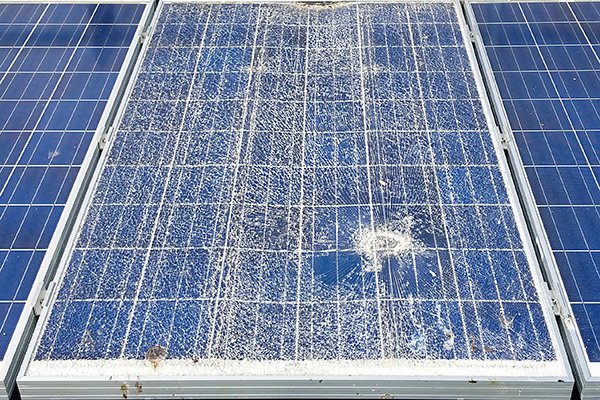 Have your solar panels been affected by hail?