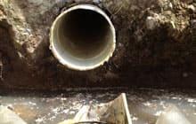 Cracked drain