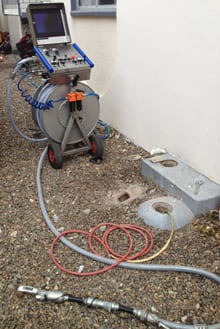 Robotic Cutter for blocked drains