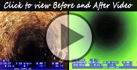 Inversion Pipe Relining - Before and After