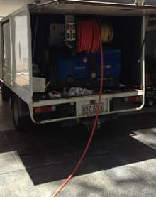Water jetter for blocked drain