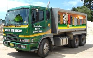 Garden Supplies Home Delivery Truck