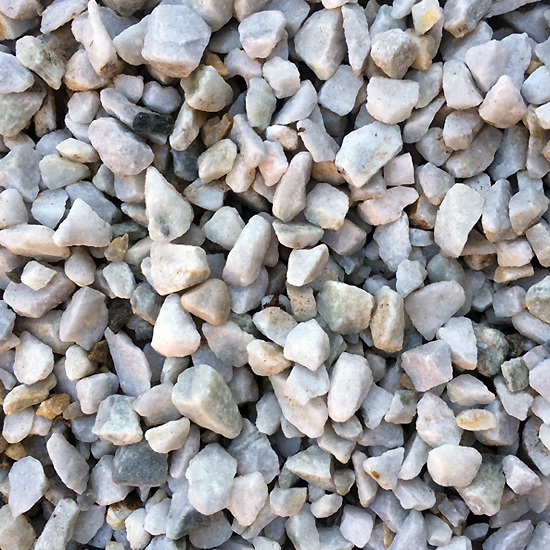 Crushed Western White Gravel 20mm