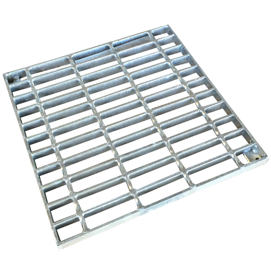 260mm Square Easy Drain Grate Alum