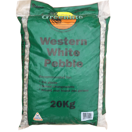 Western White Pebble Medium 20kg