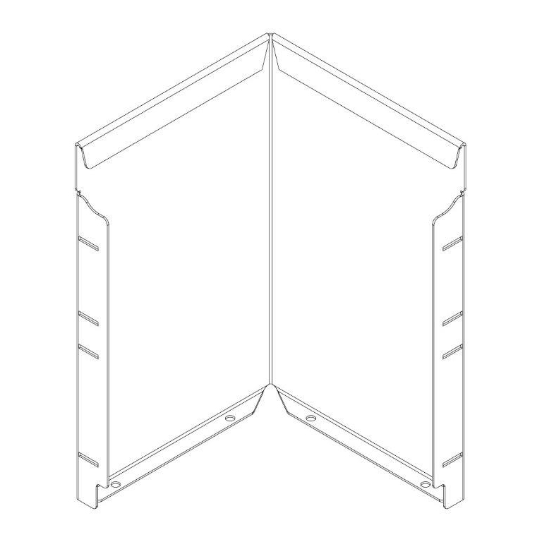 400mm Straightcurve Corner WS Flexline