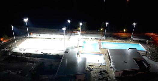Australian Sports Lighting Solutions | Gold Coast Aquatic Centre Redevelopment
