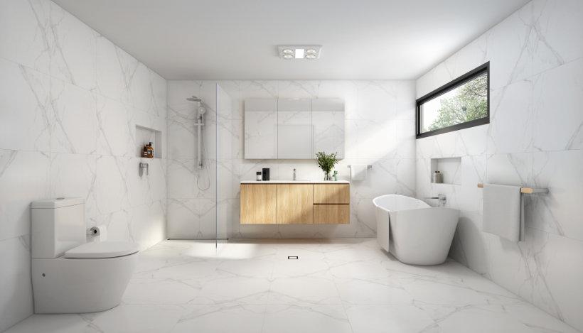 Bathroom Designs - Carrara Look